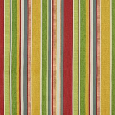 The K2353 FIESTA STRIPE upholstery fabric by KOVI Fabrics features Beach or Nautical, Stripe pattern and Burgundy or Red or Rust, Coral or Orange or Persimmon, Dark Green, Gold or Yellow, Light Geen, White or Off-White as its colors. It is a Denim or Duck or Twill, Print, Outdoor and Indoor type of upholstery fabric and it is made of 100% Acrylic material. It is rated Exceeds 25,000 Double Rubs (Heavy Duty) which makes this upholstery fabric ideal for residential, commercial and hospitality