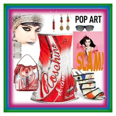 """POP ART"" by bhattasharmaluna ❤ liked on Polyvore featuring GlassesUSA, Chiara P, Geneva, Moschino, Alice + Olivia, Bling Jewelry and popart"
