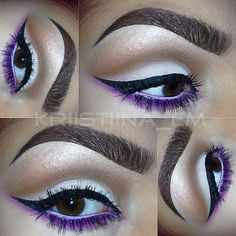 .@kriistiina_em | Tonight's Eyes Date night makeup   Will have a pictorial up for this look tom...