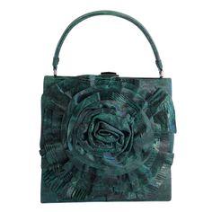 Valentino Emerald Green Lizard Handbag 955cc94c5211c