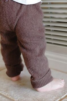 Baby Pants from Recycled Sweaters