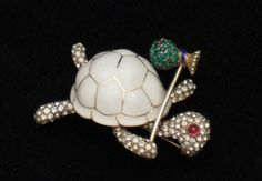 Adorable Ciner Figural Turtle!  http://stores.ebay.com/atouchofrosevintagejewels