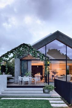Designed by architect Pete Kennon of Melbourne-based studio Kennon+ for a young family of five, this four bedroom home seamlessly combines a quaint Victorian cottage with a modern, concrete extension of minimalist grace and formalist rigour. Architecture Design, Australian Architecture, India Architecture, Architecture Office, Contemporary Architecture, Café Design, Modern Cottage, Facade House, Modern House Design