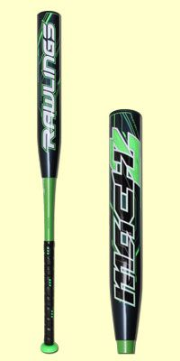 """The 2014 Rawlings Mach 2 Youth baseball bat has a -10 length to weight ratio and 2 1/4"""" barrel. It has a two-piece composite design, so it'll need to be broken in before it's game ready, and has a balanced swing weight. It also comes with a 12-month manufacturer's warranty."""