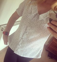 Fiona's Mimi blouse - sewing pattern in Love at First Stitch