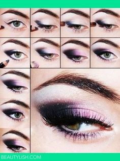 Image result for purple makeup look