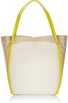 Nina Ricci Ballet Cabas leather and canvas shoulder bag | THE OUTNET