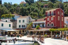 Bacon on the beech: Vassilis Taverna, Loggos, Paxos, Greece.