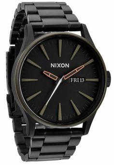 Nixon Sentry SS Herren UHR Matte Black A356 1530   eBay