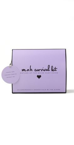 "Mother of the Bride survival kit - What a great little ""thinking of you"" gift!!! (they have mother of the groom too!)"