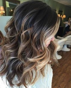 Play/ brown blonde hair, blonde balayage on brown hair, ombre for dark hair Hair Styles 2016, Short Hair Styles, Fall Hair Color For Brunettes, Hair Ideas For Brunettes, Ombre For Brunettes, Medium Length Hair Cuts With Layers, Medium Layered, Long Layered, Medium Length Ombre Hair