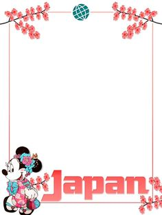 "Journal Card - EPCOT - Japan - Minnie - Project Life Journal Card - Scrapbooking. ~~~~~~~~~ Size: 3x4"" @ 300 dpi. This card is **Personal use only - NOT for sale/resale** Logos/clipart belong to Disney. Cherry blossoms from www.clker.com ***Click through to photobucket for more versions of this card with and without characters :) ***"
