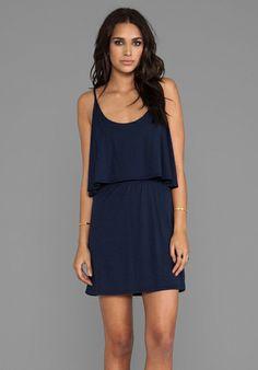 BOBI Jersey Mini Dress in Marina - Dresses