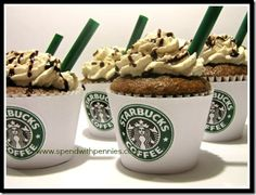 Starbucks Mocha Cupcakes. Yummy I want to make these!