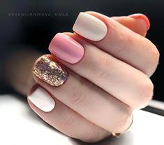 Semi-permanent varnish, false nails, patches: which manicure to choose? - My Nails White Nails, Pink Nails, My Nails, Dipped Nails, Cute Acrylic Nails, Square Nails, Powder Nails, Stylish Nails, Perfect Nails