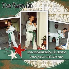 taekwondo scrapbook layouts | Tae Kwon Do digital scrapbooking layout by Ginny Whitcomb using the ...