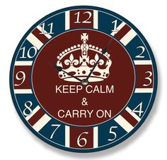 The Stupell Home Decor Collection Keep Calm and Carry On Vanity Wall Clock * You can find more details by visiting the image link. Blue Wall Clocks, Cool Clocks, Unique Wall Clocks, Keep Calm Carry On, How To Make Wall Clock, Thats The Way, Blue Walls, Home Wall Art, Home Decor Outlet