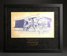 Original Movie Prop - Star Wars: Ep IV - A New Hope - Original Dyeline - Luke Skywalker in X-Wing - Authentic @ niftywarehouse.com