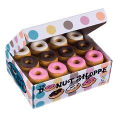 Donut Shoppe Scented Eraser - Assortment: chocolate (brown), vanilla (white), strawberry (pink)
