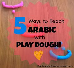 Arabic activities with Play dough