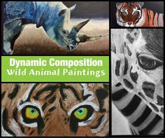 Dynamic Composition Wild Animal Acrylic Paintings Lesson | Create Art with ME