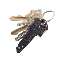 "SOG Key Folding Knife KEY-101 - 1.5"" Blade, Black Stainless Steel Handle"