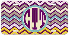 Personalized Monogrammed Chevron Teal Purple License Plate Auto Tag Top Craft Case http://www.amazon.com/dp/B00N025EFG/ref=cm_sw_r_pi_dp_4Potub1GE6CZ9