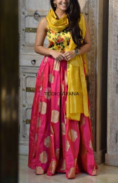 Every woman is a princess in disguise. Tiara by Ayana is a symbolic representation of a true princess of royalty. Western Wear Dresses, Western Wear For Women, Party Wear Dresses, Dress Outfits, Evening Attire, Evening Gowns, Mirror Work Lehenga, Lehenga Style Saree, Casual Wear Women