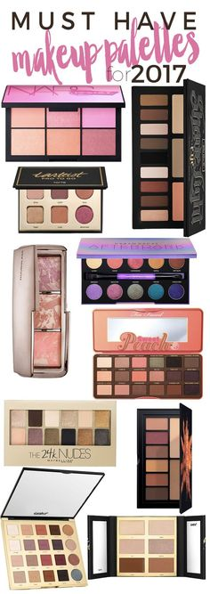10 Must Have Makeup Palettes for 2017