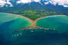 One of Costa Rica's most unique geological formations: Uvita, Ballena Marine National Park, southern Pacific of Costa Rica. When you visit it, make sure you go during low tide, to be able to walk all the way to the point. -Andres www.crtraveler.com . photo source: Costa Rica Travel Magazine