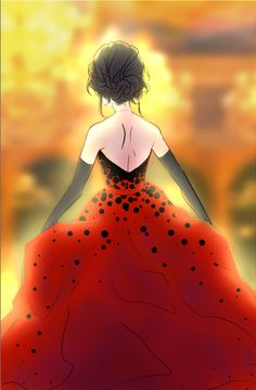 Marinette (Ladybug)  by littleblackchats on Tumblr  http://littleblackchat.tumblr.com/post/133926438916/omg-done-cinderella-ladybug-au-i-guess-instead-of