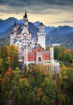 Neuschwanstein Castle, Hohenschwangau, Bavaria, Germany | 14 of the Most Amazing Fairy Tales Castles you should See in a Lifetime