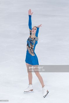 Maria Sotskova of Russia competes during Ladies Short Program on day one of the Trophee de France ISU Grand Prix of Figure Skating at Accorhotels Arena on November 11, 2016 in Paris, France.