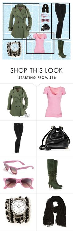 """""""Dreaming on a Winters Day"""" by sommer-reign ❤ liked on Polyvore featuring True Religion, Paige Denim, Juicy Couture, Ray-Ban, Brian Atwood, Sara Designs and River Island"""