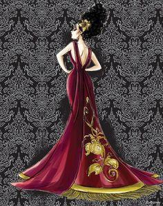 Designer Villain Collection Concept Art Mother Gothel