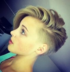 Keeping the length. Undercut. Shaved Layered Haircuts Women
