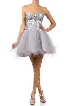 Grey/silver dama dresses | Quinceanera Theme | Pinterest | Prom ...