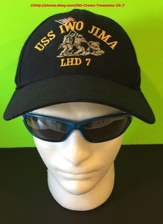 The Corps Brand Made in USA USS Iwo Jima LHD 7 Ball Cap Vintage  92a4b72cb55e