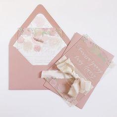 Summer florals acrylic invitations suite #weddinginvitations #acrylicinvitations Acrylic Invitations, Envelope Liners, Invitation Suite, Florals, Wedding Invitations, Blush, Peach, Letters, Summer