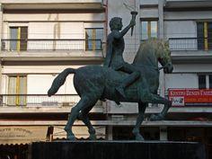Alexander Equestrian Statue in Edessa, Greece