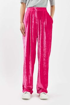 c89807740b41 Crushed Velvet Trousers by Boutique