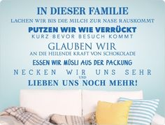 "Wandtattoo 11700 ""Familienregeln"" Wanddeko von I-love-Wandtattoo auf DaWanda.com"