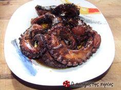 Χταποδάκι πιπεράτο και κρασάτο                        octopus with pepper and wine