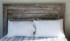 Farmhouse Wood Rustic Headboard Queen Headboard Twin, Double, Full Queen, King and California King Farmhouse Headboard King Size Headboard, White Headboard, Twin Headboard, Headboards For Beds, Custom Headboard, Headboard Designs, Homemade Headboards, Pallet Headboards, California King