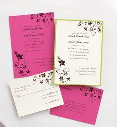 Fiona 2 Layer Wedding Invitations SAMPLE by TheAmericanWedding.com