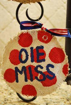 Ole Miss Christmas Ornament. $10.00, via Etsy.