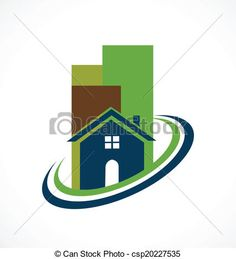 Vector - Modern real estate buildings logo  - stock illustration, royalty free illustrations, stock clip art icon, stock clipart icons, logo, line art, EPS picture, pictures, graphic, graphics, drawing, drawings, vector image, artwork, EPS vector art