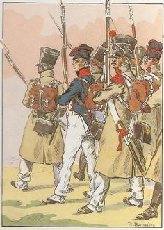 French; 18th Line Infantry, Fusiliers & Greandiers, Tenue de Campagne, 1813-14