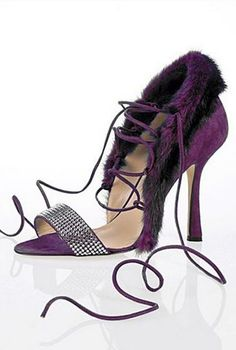 Oscar de la Renta amazing, stylish and perfect Purple Sandal 2012 #Shoes #Heels