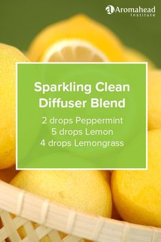 This diffuser blend is so uplifting and refreshing! Learn how to make similar household products in Aromatherapy for Natural Living: http://aromahead.com/courses/online/aromatherapy-for-natural-living #Aromatherapy